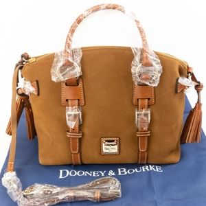 NWT- Dooney & Bourke Nubuck Satchel- Brown